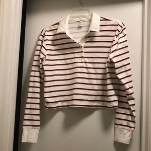 Cropped collar shirt